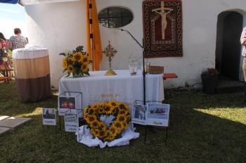 Gottesdienst im Knaus mit ca. 180 Besuchern