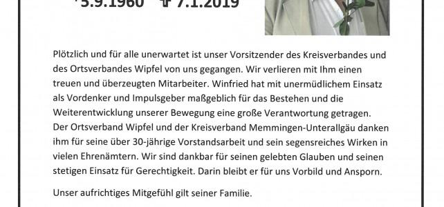 KAB trauert um Winfried Röhricht
