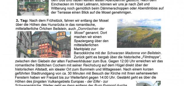 KAB Erkheim: Busreise ins Rhein-Mosel Gebiet