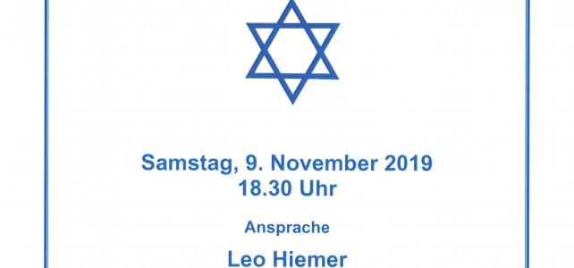 Gedenkstunde zur Reichspogromnacht von 1938