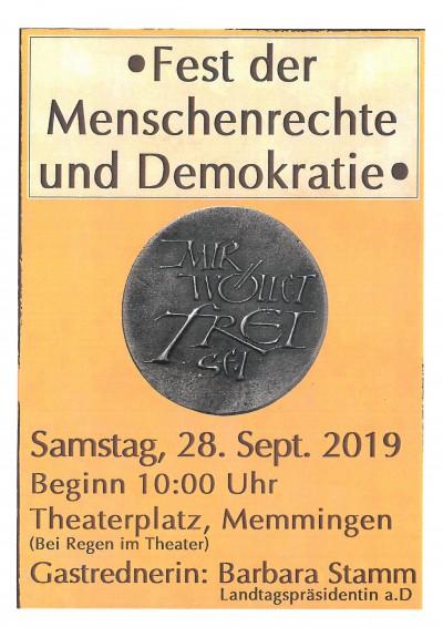 Plakat Fest Menschenrechte
